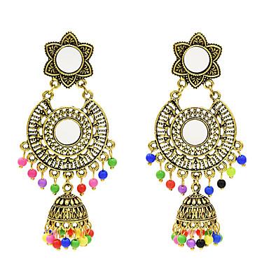 povoljno Modne naušnice-Žene Viseće naušnice Retro Pakiranje Naušnice Jewelry Zlato / Pink Za Dnevno 1 par
