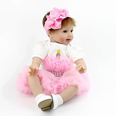 preiswerte Puppen-NPK DOLL Lebensechte Puppe Kugelgefügte Puppe Wiedergeborene Kleinkind-Puppe Baby Mädchen 22 Zoll Sicherheit Geschenk Niedlich Kinder Unisex Spielzeuge Geschenk