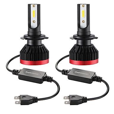 billige Billamper-2 stk mini-lyspære billyskaster h7 100w 20000lm 6000k billyktlys ip67 vanntett plugg og spill perfekt rask og enkel installasjon ved å plugge inn og skifte ut lyspærer