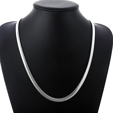levne Dámské šperky-Pánské Řetízky Klasika Jednoduchý Módní Měď Postříbřené Stříbrná 51,60 cm Náhrdelníky Šperky 1ks Pro Denní Práce