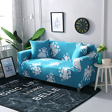 tampa do sofá metade mu quadrado campo impresso poliéster slipcovers
