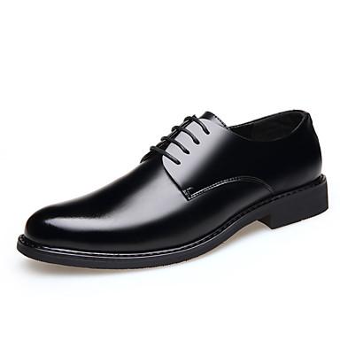 Homens Sapatos formais Microfibra Primavera / Verão Oxfords Preto
