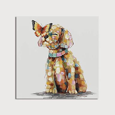 Pintura a Óleo Pintados à mão - Animais Modern Incluir moldura interna