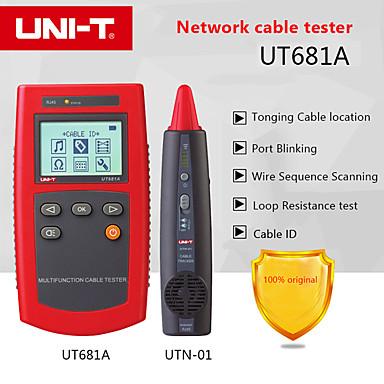 testador de rede portátil uni-t ut681a conjunto de localizador de cabo multi-função com teste de resistência de loop e digitalização de seqüência de fios