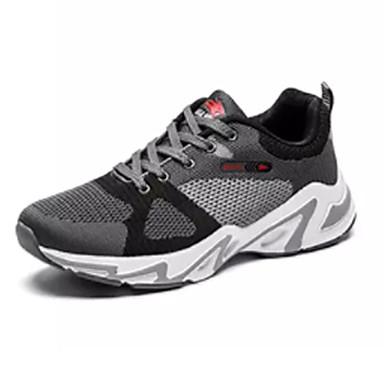 Homens Sapatos Confortáveis Couro Ecológico Verão Tênis Caminhada Branco e Preto / Preto / Vermelho / Cinzento