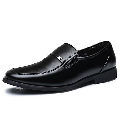 Homens Sapatos Confortáveis Couro Ecológico Verão Mocassins e Slip-Ons Preto / Marron / Festas & Noite / Festas & Noite / Escritório e Carreira