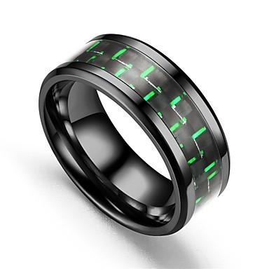 billige Motering-Herre Dame Band Ring Ring Tail Ring 1pc Mørkerød Lyseblå Lys Grønn Titanium Stål Sirkelformet Vintage Grunnleggende Mote Love Smykker