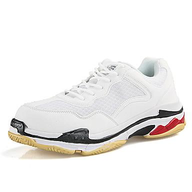 Homens Sapatos Confortáveis Com Transparência Outono / Primavera Verão Esportivo / Casual Tênis Caminhada Respirável Preto / Branco / Vermelho / Ao ar livre