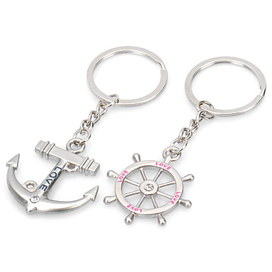 voordelige Dames Sieraden-Sleutelhanger Normale Modieuze ringen Sieraden Zilver Voor Lahja mielitietty