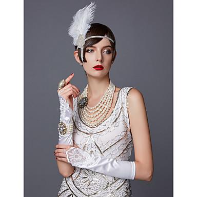 The Great Gatsby Čarlston 1920s Gatsby Vruće dvadesete Rukavice Žene Kostim Crn / Obala / Srebrna Vintage Cosplay Party Prom