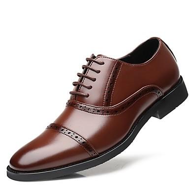 Homens Sapatos formais Couro Sintético Primavera Verão Oxfords Preto / Marron