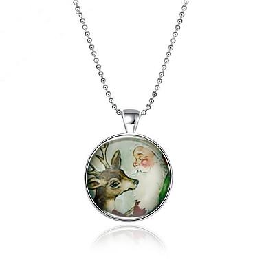 povoljno Modne ogrlice-Žene Ogrlice s privjeskom Geometrijski Jelen Moda Pozlaćeni Pink 45 cm Ogrlice Jewelry 1pc Za Dnevno Praznik