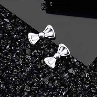 Mulheres Brincos Curtos Clássico Borboleta Estiloso Simples Europeu Na moda Elegante S925 Sterling Silver Brincos Jóias Prata Para Presente Diário Feriado Trabalho Festival 1 par