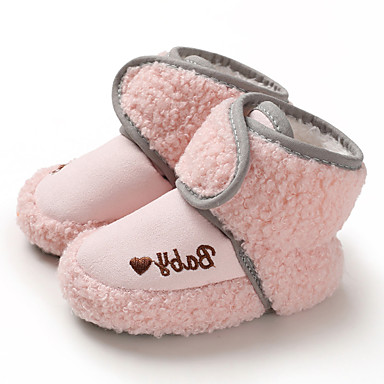 cheap For ages 0-9 mos.-Boys' / Girls' First Walkers Suede Boots Infants(0-9m) / Toddler(9m-4ys) Brown / Gray / Pink Winter