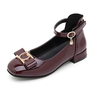 preiswerte Schuhe für Kinder-Mädchen Schuhe für das Blumenmädchen PU High Heels Große Kinder (ab 7 Jahren) Schwarz / Rot / Wein Sommer