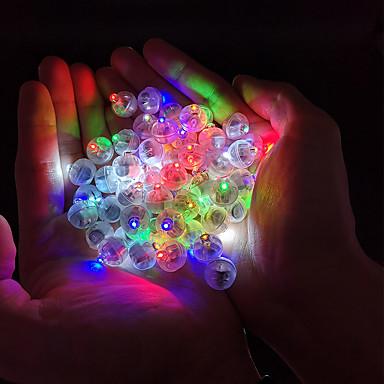 12 pcs bola redonda levou balão luzes luminosas lâmpadas para lanterna bar luzes da festa de casamento de natal decoração lanterna de papel