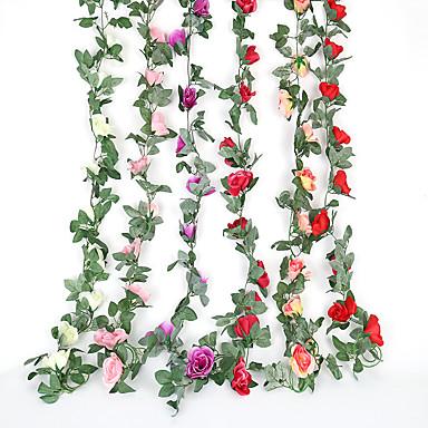 3 pc simulação de veludo rosa flor rattan ar condicionado mangueira decoração loja de frutas shopping festival decoração do casamento do casamento do hotel quarto sótão decoração flor videira