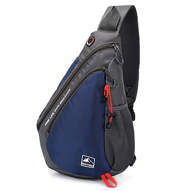 preiswerte Taschen-Unisex Reißverschluss Polyester Sling Schultertasche Volltonfarbe Schwarz / Blau / Rote