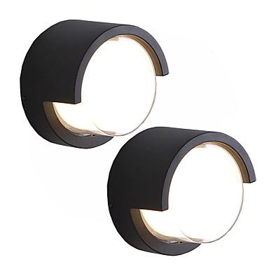 2 pçs / lote led12w luzes de parede ao ar livre / à prova d 'água / criativo / decorativos arandelas de parede branca quente para pátio / jardim / 220-240 v / 110-120 v