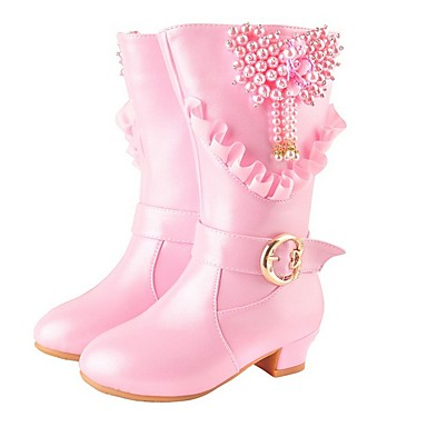 cheap For ages 7yrs+-Girls' Snow Boots PU Boots Big Kids(7years +) Pink Winter / Mid-Calf Boots