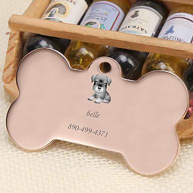 Personalizado Personalizado Labrador Pet Tags Clássico Presente Diário 1pcs Dourado Prata Rosa Dourado