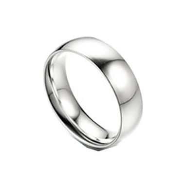billige Motering-Par Parringer 1pc Hvit Sølv Rustfritt Stål Titanium Stål Sirkelformet Grunnleggende Mote Love Smykker