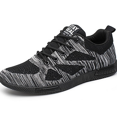 Homens Sapatos Confortáveis Com Transparência Primavera Tênis Tênis Anfíbio Respirável Preto / Branco / Preto / Preto / Vermelho
