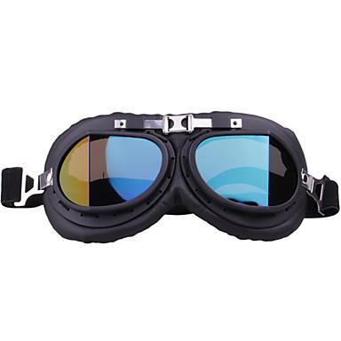 preiswerte Motorradhelme-einzigartige vintage motorradbrille motocross pilot reitbrille für outdoor rahmen farbtransparent