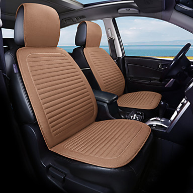 cheap Car Seat Covers-Elegant Linen Seat Cushion ComfortableFlax Fabrics Car Seat Covers Universal Car seat Cushion Accessories Decorate Protection Covers For Car Seat