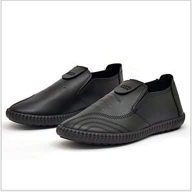 Homens Sapatos de couro Couro Ecológico Verão Mocassins e Slip-Ons Preto / Marron