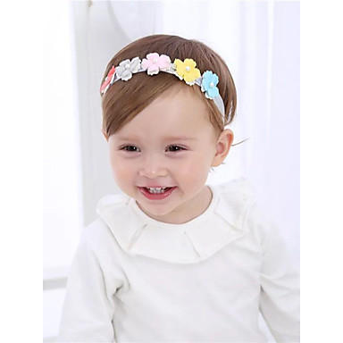 preiswerte Kinder Kopfbedeckungen-Baby / Kleinkinder Mädchen Süß Blumen Haarzubehör Regenbogen Einheitsgröße