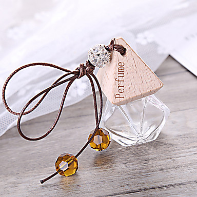 levne Doplňky do interiéru-auto parfém láhev osvěžovač vzduchu auto-styl visí skleněná láhev parfém přívěsek (prázdná láhev bez éterického oleje)