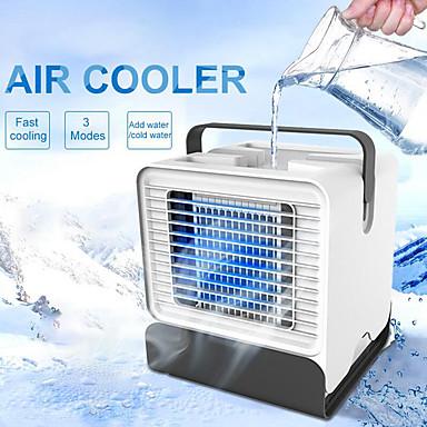 preiswerte Hausbedarf-neue luftkühler usb portable klimaanlage desktop mini fan negative ionen luftbefeuchter luftreiniger mit nachtlicht 150 ml wassertank