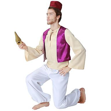 Príncipe Ocasiões Especiais Homens Tema Fadas Dia Das Bruxas Espetáculo Fantasias de Cosplay Festa temática Fantasias Homens Fantasia de Dança Poliéster Combinação