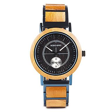 levne Pánské-Pánské Sportovní hodinky japonština Japonské Quartz Stylové Dřevo Černá / Orange / Hnědá 30 m dřevěný Analogové Módní Dřevo - Hnědá Oranžovo červená Černá / Žlutý Jeden rok Životnost baterie
