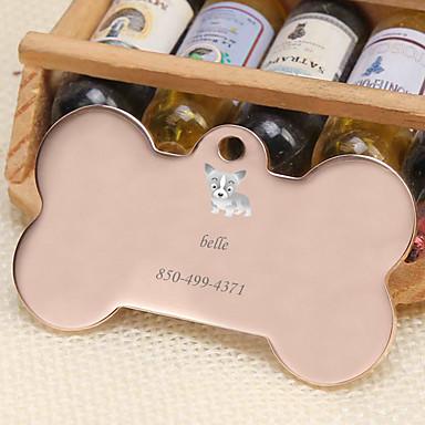 Personalizado Personalizado Corgi Pet Tags Clássico Presente Diário 1pcs Dourado Prata Rosa Dourado