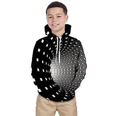 Baby & Kids-Kids Toddler Boys' Active Basic Rubik's Cube Geometric Galaxy 3D Print Long Sleeve Hoodie & Sweatshirt Black