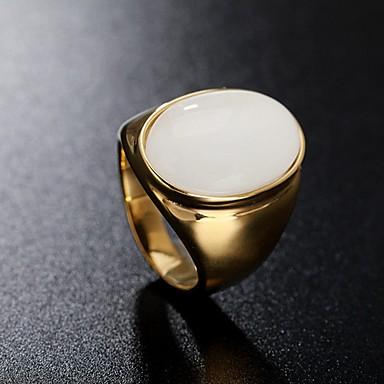 billige Motering-Herre Band Ring Ring 1pc Rød Grønn Blå Titanium Stål Sirkelformet Vintage Grunnleggende Mote Daglig Smykker