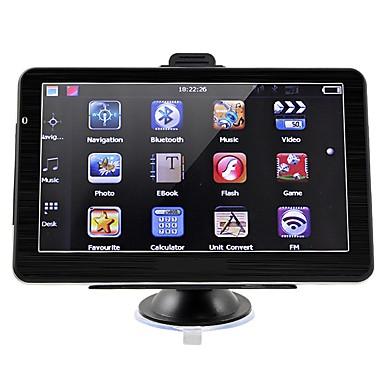 voordelige Automatisch Electronica-7 inch auto GPS navigatie 256 / 8GB Bluetooth AV-in FM-zender met gratis kaarten ondersteunen handsfree achteruitrijcamera