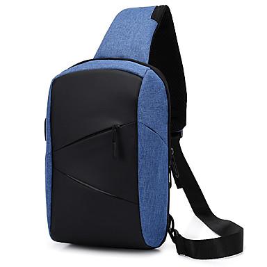 Homens Ziper Poliéster Sling sacos de ombro Estampa Colorida Azul / Preto / Cinzento / Outono & inverno
