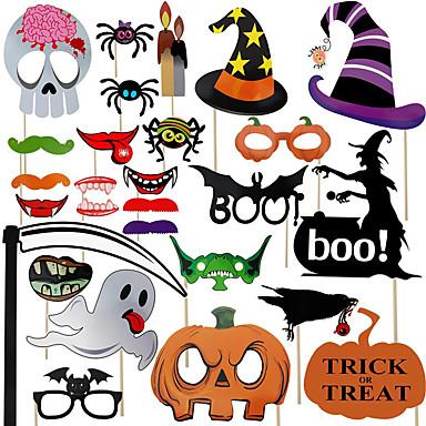 levne Party doplňky-Halloween / Festival Příslušenství Party Vtipné ozdoby na focení Vzor lepenkový papír Klasický motiv / kreativita / rustikální téma