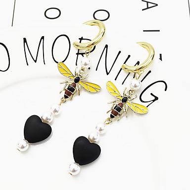 povoljno Modne naušnice-Žene Viseće naušnice Long Lice vjerovati Naušnice Jewelry Crn / Fuksija Za Dnevno 1 par