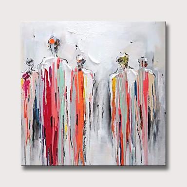 povoljno Ulja na platnu-Hang oslikana uljanim bojama Ručno oslikana - Sažetak Ljudi Moderna Bez unutrašnje Frame