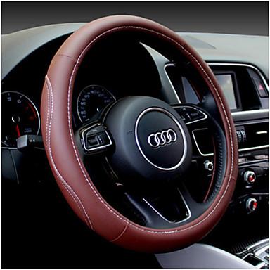billige Interiørtilbehør til bilen-universal ratt lær sport bil ratt deksel universal 38cm hjul dekker bil tilbehør