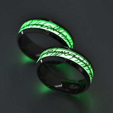 levne Pánské šperky-Pánské Dámské Snubní prsteny Prsten 1ks Zlatá Stříbrná Nerez Kulatý Vintage Základní Módní Dar Šperky Rakam Písmeno