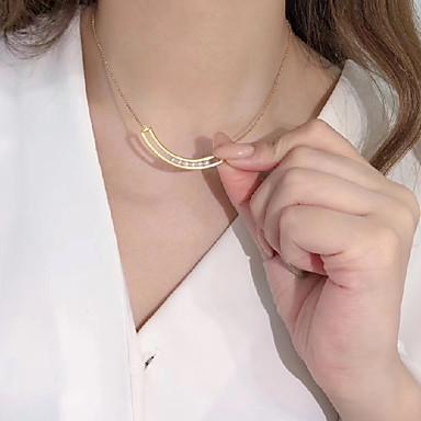 levne Dámské šperky-Dámské Náhrdelník Klasika Smát se Perly S925 Sterling Silver Zlatá 45 cm Náhrdelníky Šperky 1ks Pro Dar Denní Slib Festival