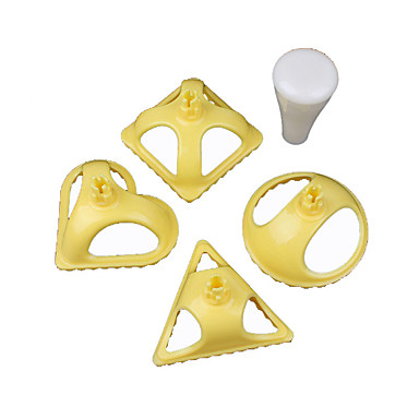 Delidge 4 pçs / set moldes de bolinho de massa de plástico 4 formas ferramenta de imprensa de bolinho de massa jiaozi chinês ferramenta de cozinha cozinhar massa bolinho molde