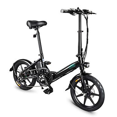 fiido d3 versão de mudança ciclomotor dobrável bicicleta elétrica 10.4ah capacidade de mudança de seis velocidades opcional 16 polegada pneu inflável de borracha