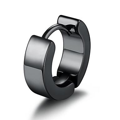levne Pánské šperky-Pánské Náušnice - Klipsy Klasika Drahocenný Jednoduchý Módní Postříbřené Náušnice Šperky Černá / Stříbrná Pro Denní Street 1ks