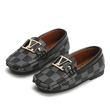 preiswerte Schuhe für Kinder-Mädchen Mokassin PU Loafers & Slip-Ons Kleine Kinder (4-7 Jahre) Weiß / Schwarz / Kaffee Sommer